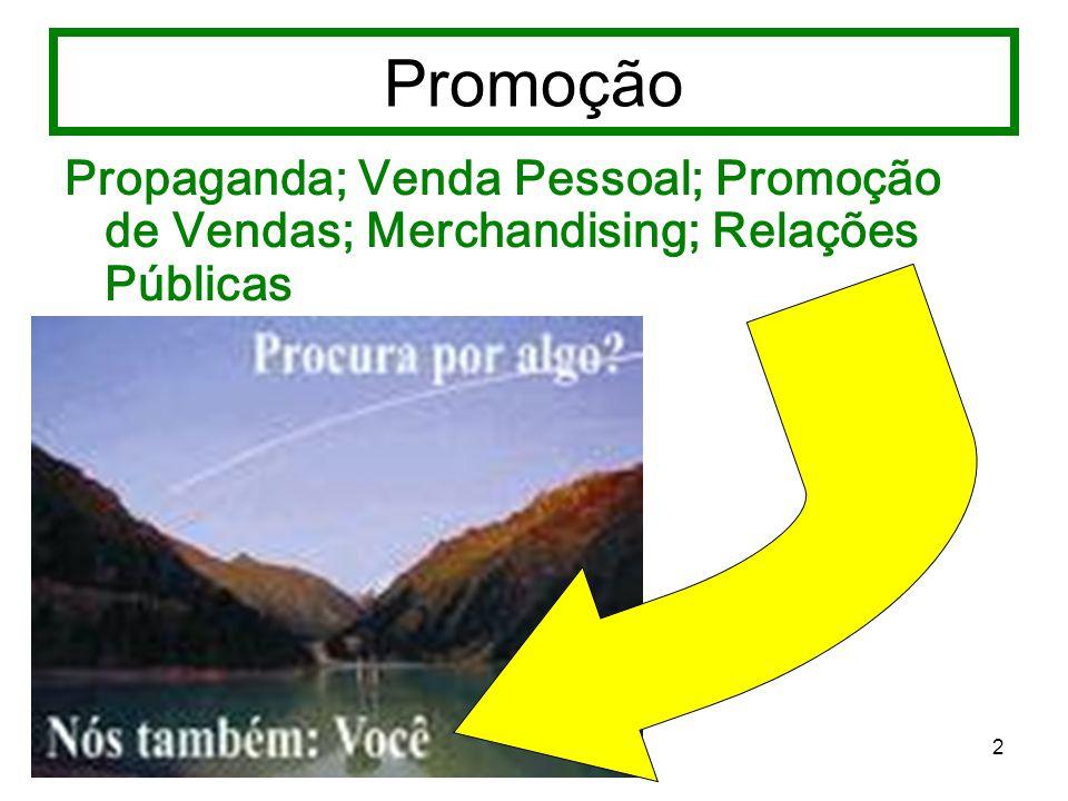Promoção Propaganda; Venda Pessoal; Promoção de Vendas; Merchandising; Relações Públicas