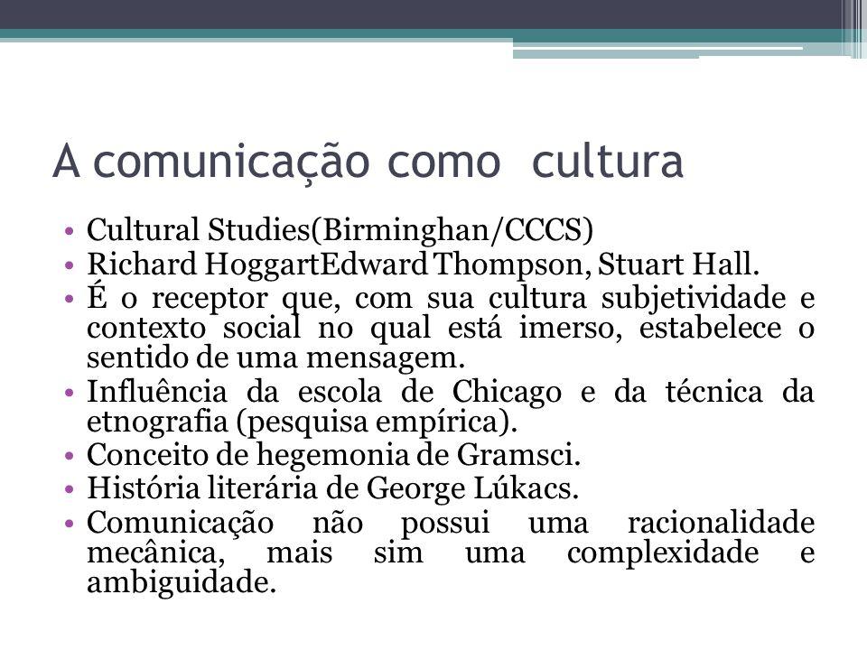A comunicação como cultura