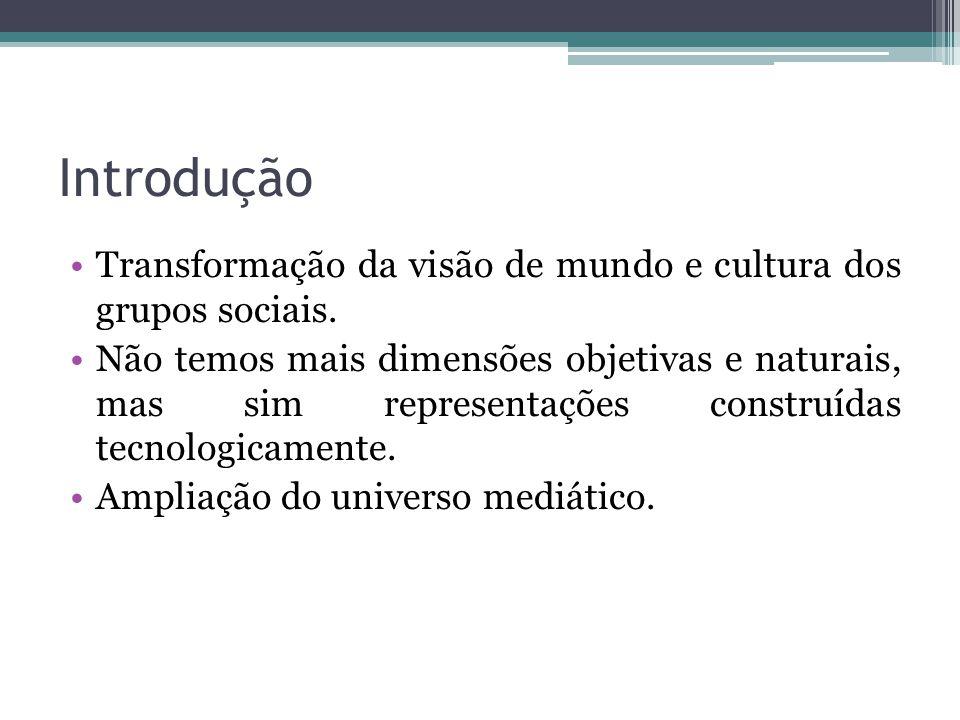 Introdução Transformação da visão de mundo e cultura dos grupos sociais.