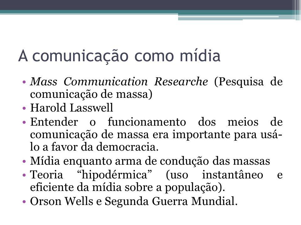 A comunicação como mídia