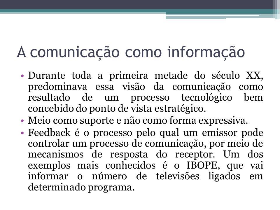 A comunicação como informação