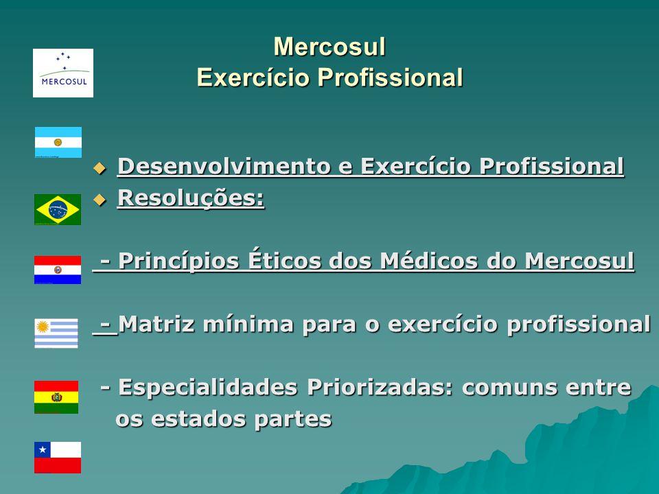 Mercosul Exercício Profissional