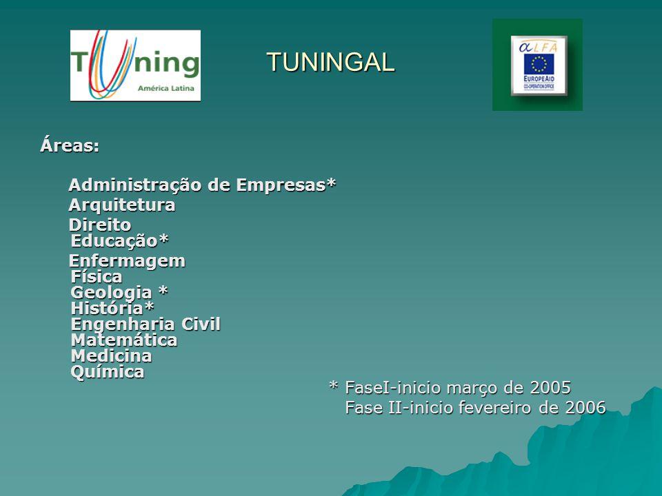 TUNINGAL Áreas: Administração de Empresas* Arquitetura