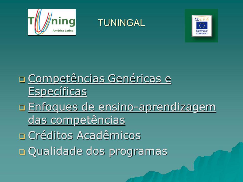 Competências Genéricas e Específicas