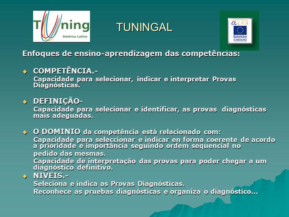 TUNINGAL Enfoques de ensino-aprendizagem das competências: