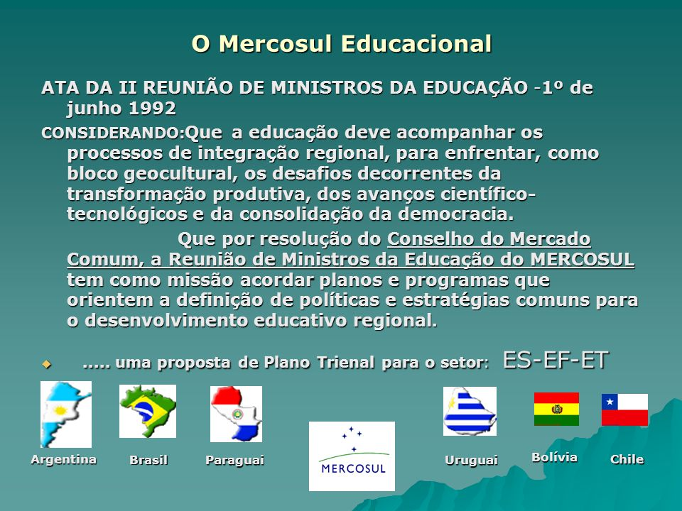 O Mercosul Educacional