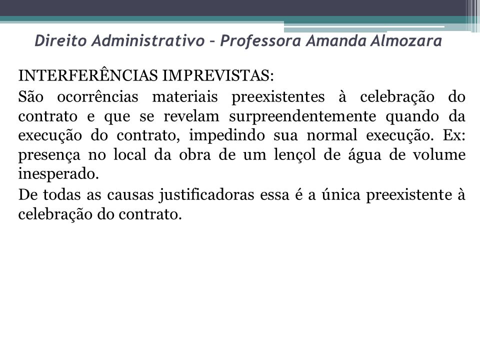 Direito Administrativo – Professora Amanda Almozara