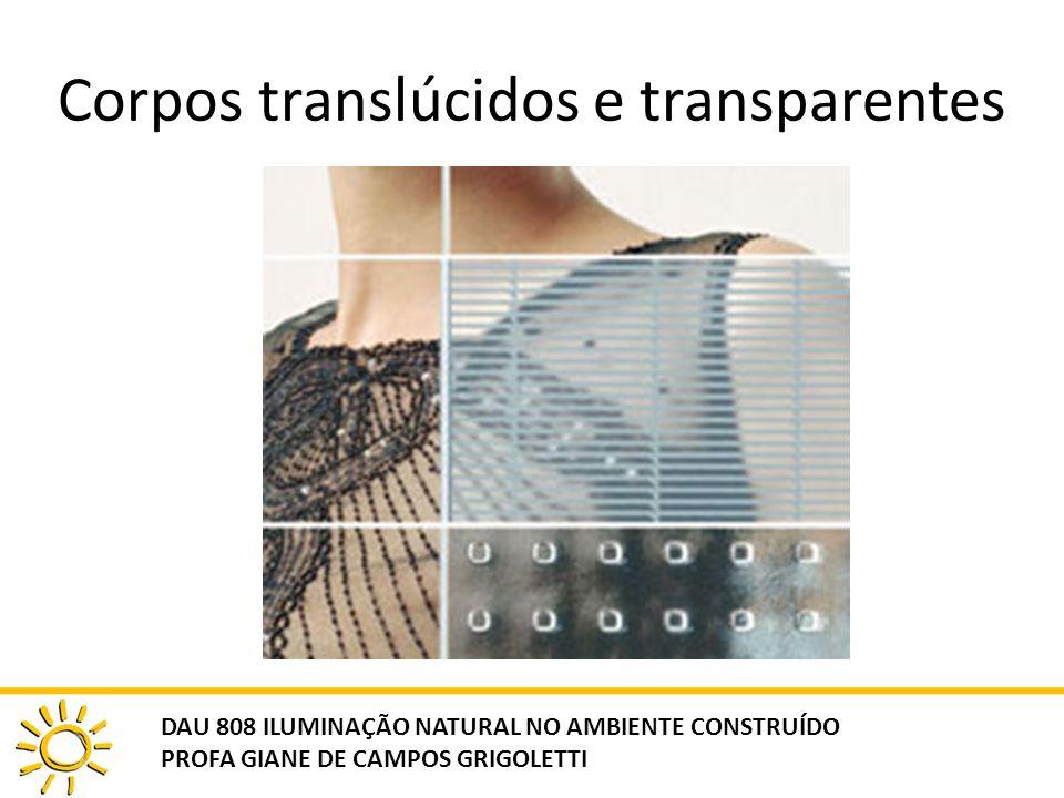 Corpos translúcidos e transparentes
