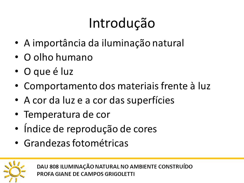 Introdução A importância da iluminação natural O olho humano