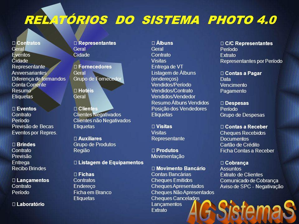 RELATÓRIOS DO SISTEMA PHOTO 4.0