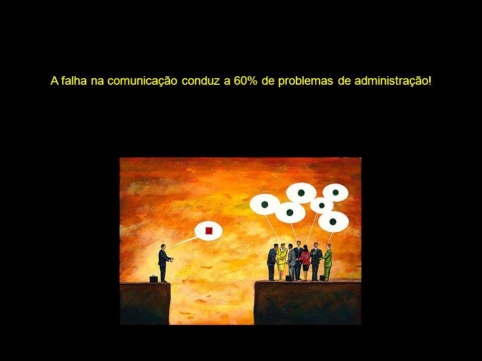 A falha na comunicação conduz a 60% de problemas de administração!