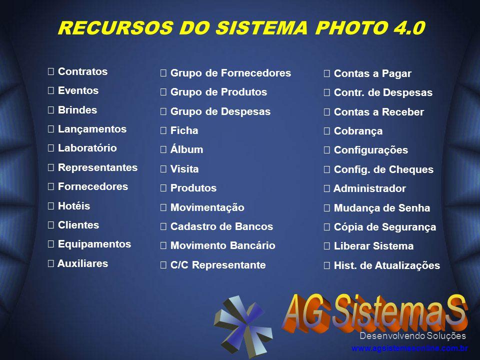 RECURSOS DO SISTEMA PHOTO 4.0