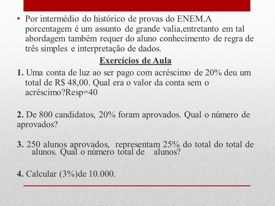 Por intermédio do histórico de provas do ENEM
