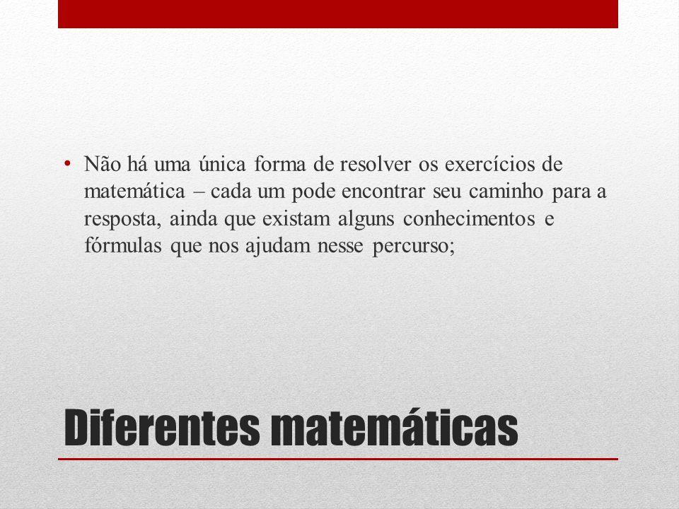 Diferentes matemáticas