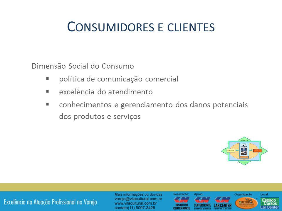 Consumidores e clientes