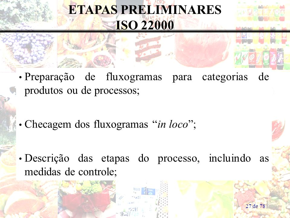 ETAPAS PRELIMINARES ISO 22000