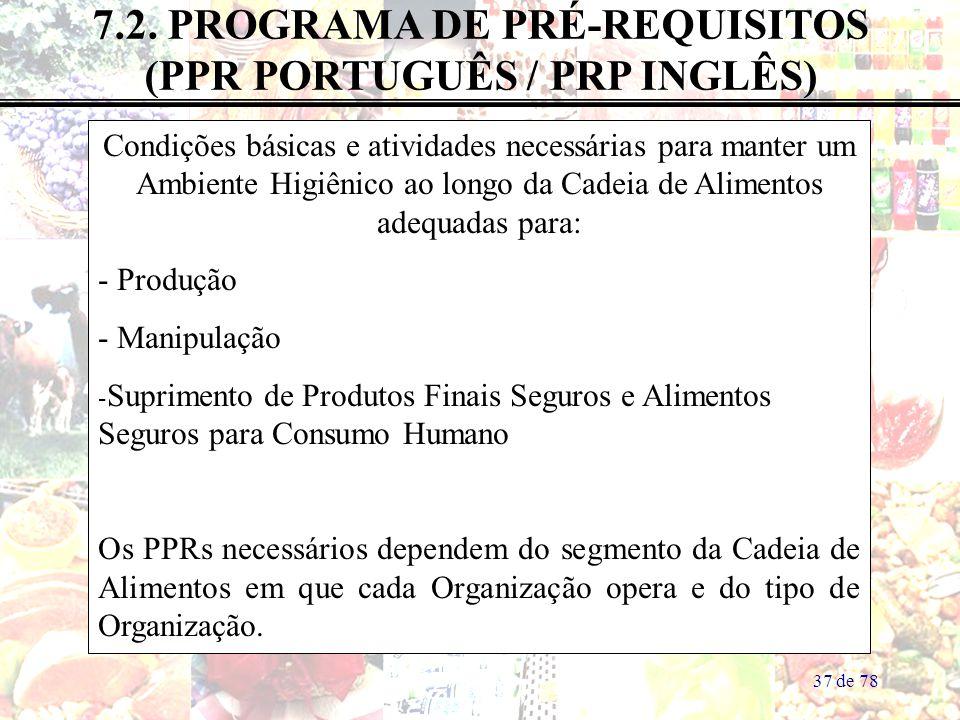 7.2. PROGRAMA DE PRÉ-REQUISITOS (PPR PORTUGUÊS / PRP INGLÊS)