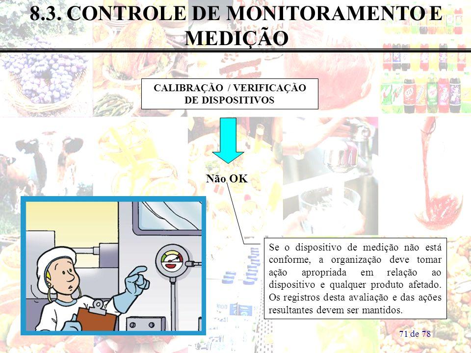 8.3. CONTROLE DE MONITORAMENTO E MEDIÇÃO