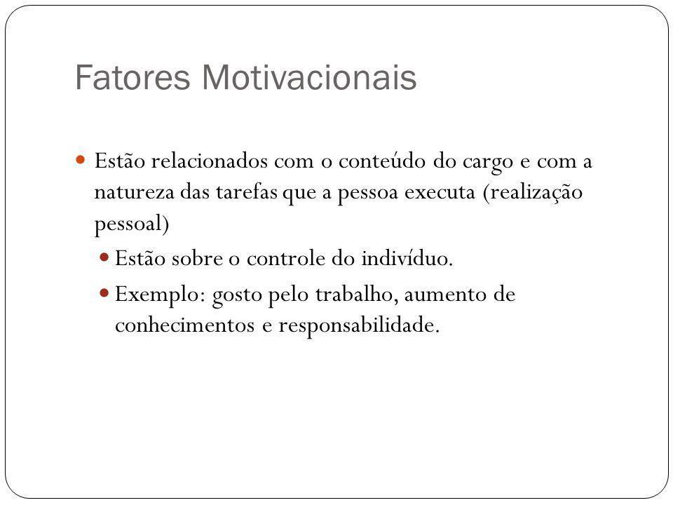 Fatores Motivacionais