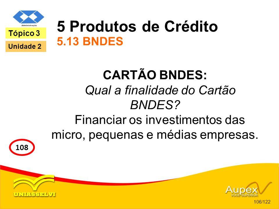 5 Produtos de Crédito 5.13 BNDES