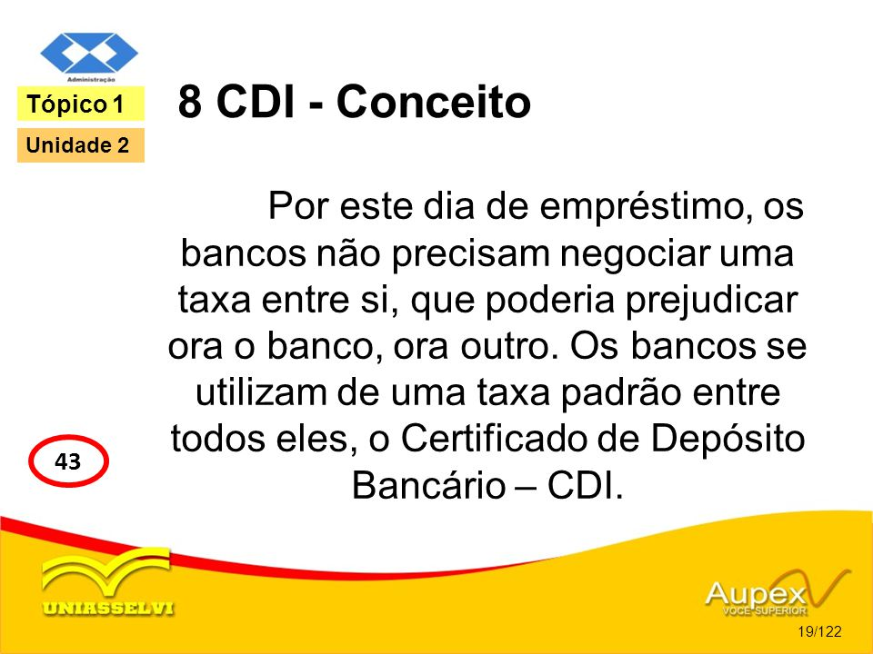 8 CDI - Conceito Tópico 1. Unidade 2.