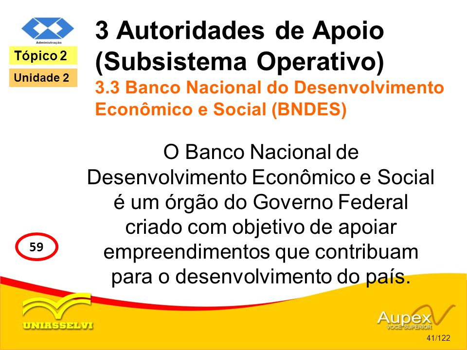 3 Autoridades de Apoio (Subsistema Operativo) 3