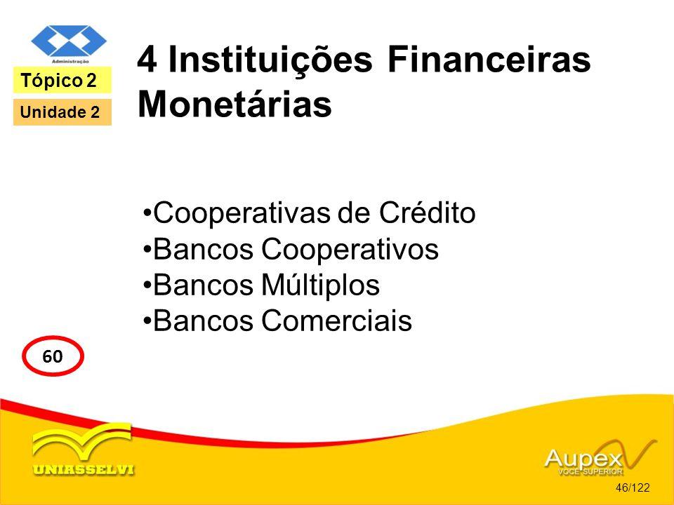4 Instituições Financeiras Monetárias