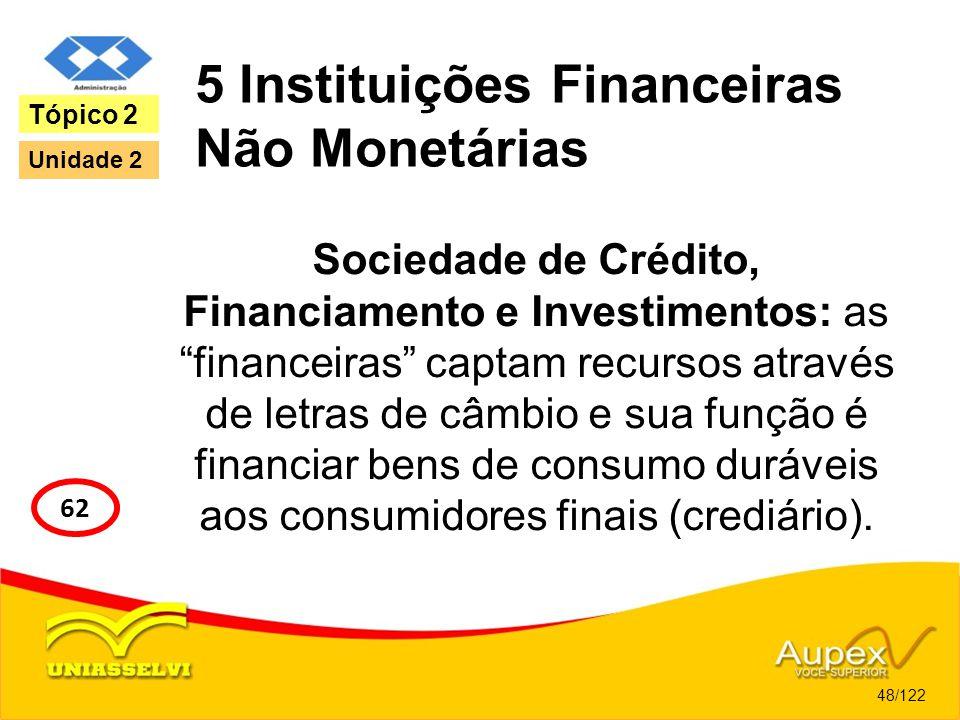 5 Instituições Financeiras Não Monetárias