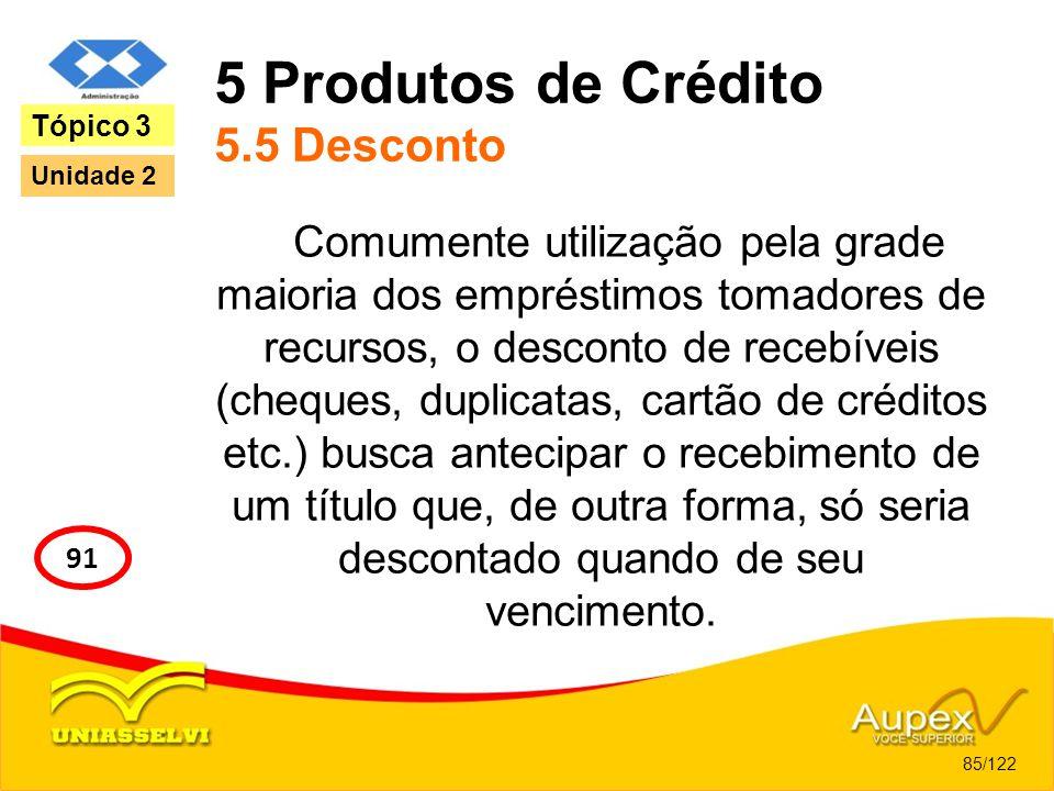5 Produtos de Crédito 5.5 Desconto
