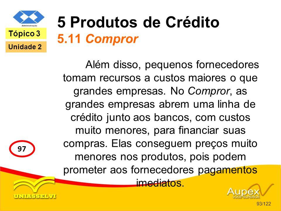 5 Produtos de Crédito 5.11 Compror