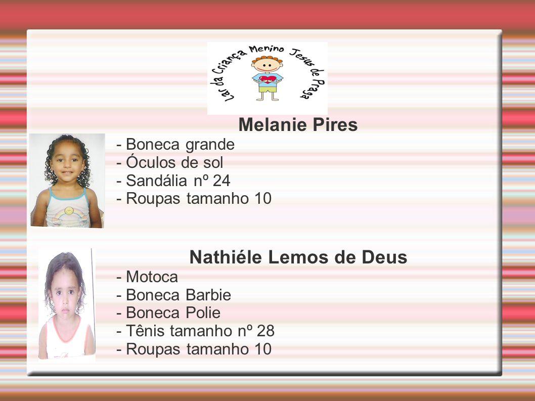 Melanie Pires Nathiéle Lemos de Deus