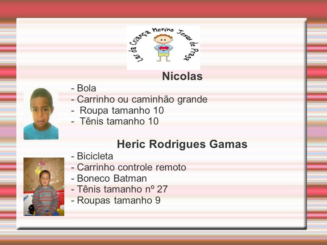 Nicolas Heric Rodrigues Gamas