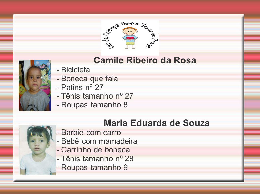 Camile Ribeiro da Rosa Maria Eduarda de Souza - Bicicleta