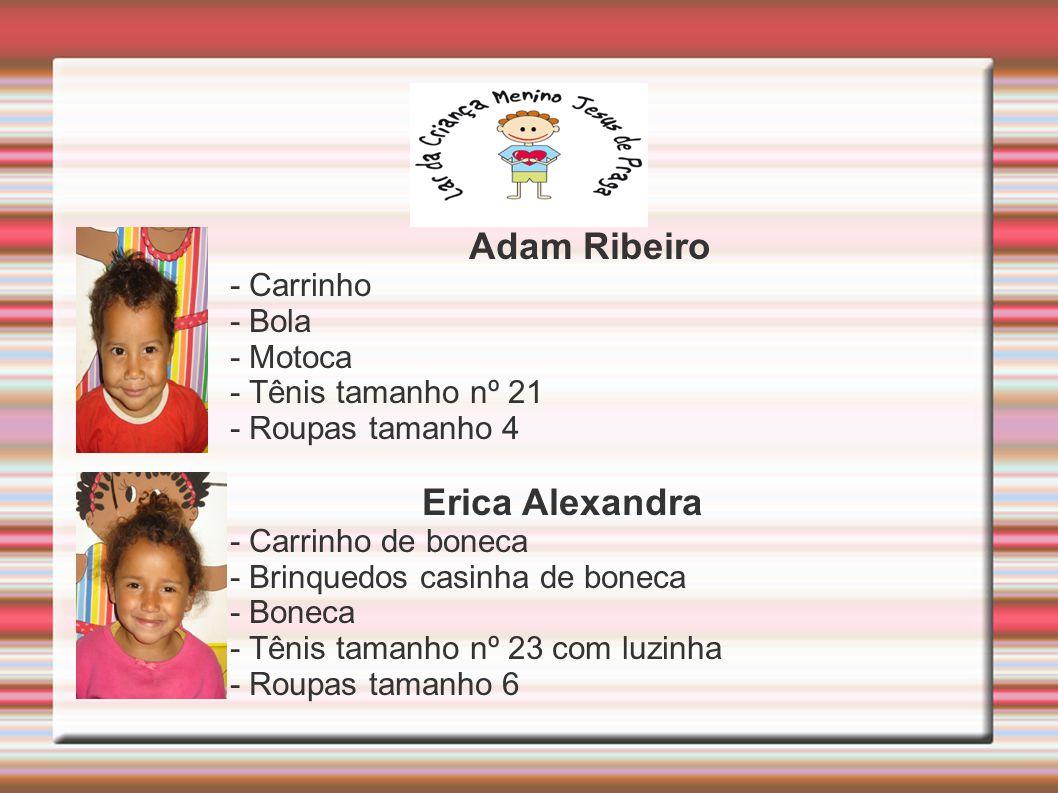 Adam Ribeiro Erica Alexandra - Carrinho - Bola - Motoca