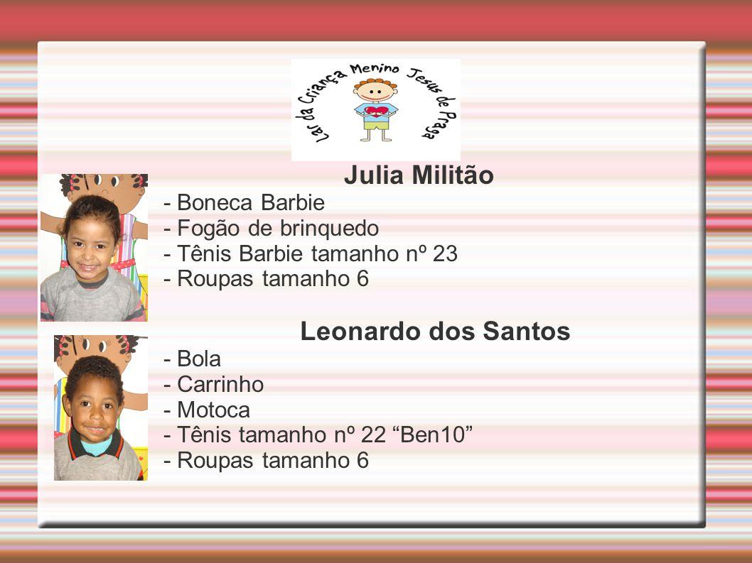 Julia Militão Leonardo dos Santos - Boneca Barbie - Fogão de brinquedo