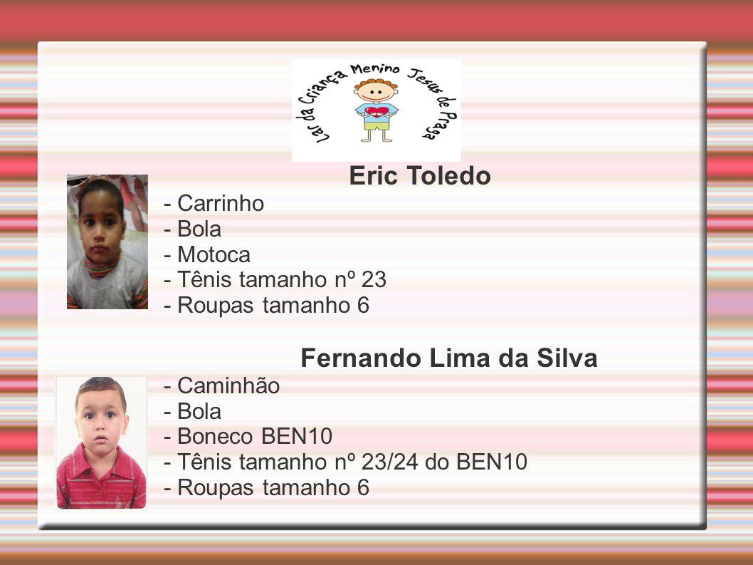 Eric Toledo Fernando Lima da Silva - Carrinho - Bola - Motoca