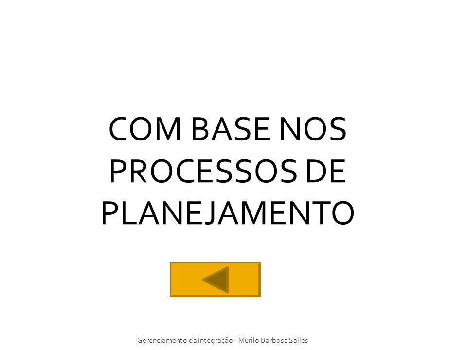 COM BASE NOS PROCESSOS DE PLANEJAMENTO