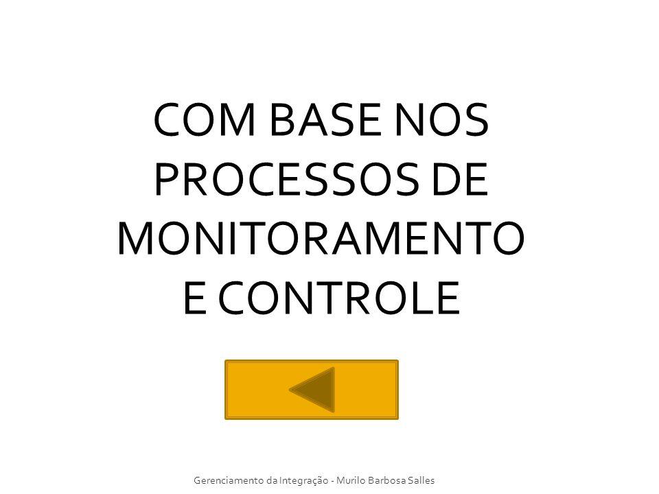 COM BASE NOS PROCESSOS DE MONITORAMENTO E CONTROLE