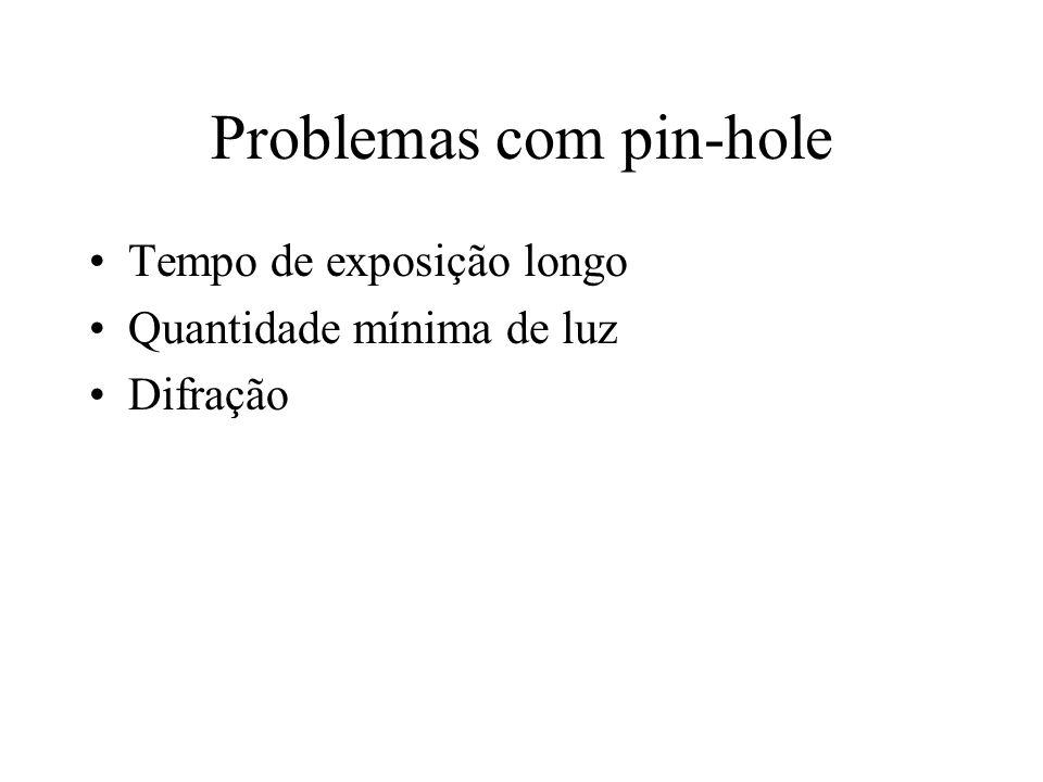 Problemas com pin-hole