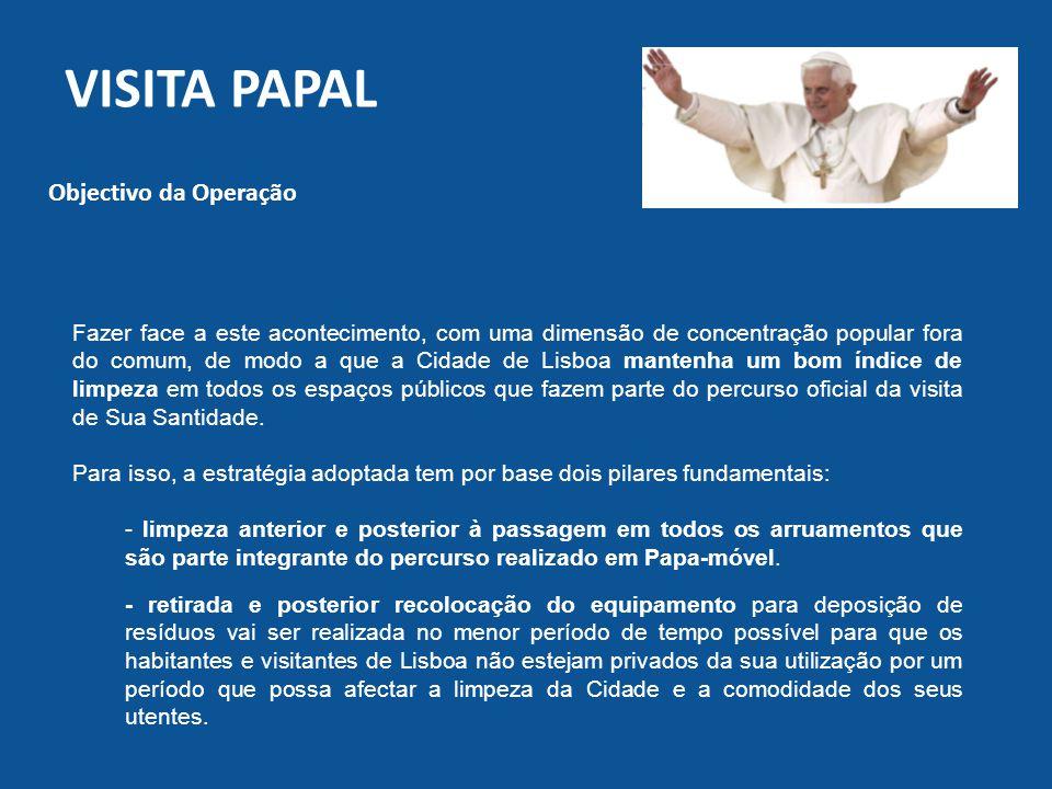 Visita papal Objectivo da Operação