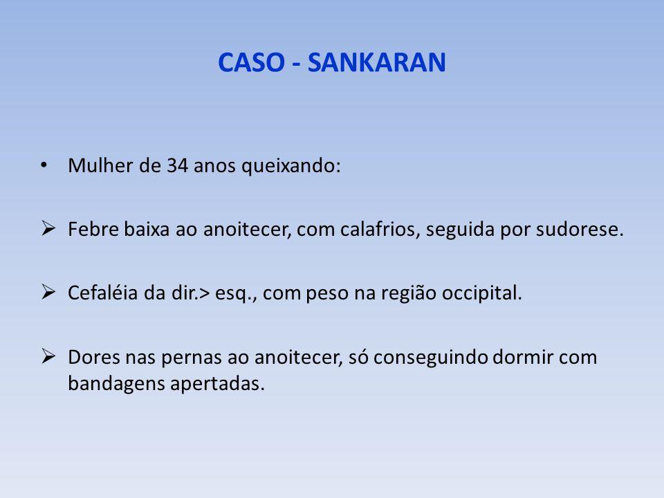 CASO - SANKARAN Mulher de 34 anos queixando: