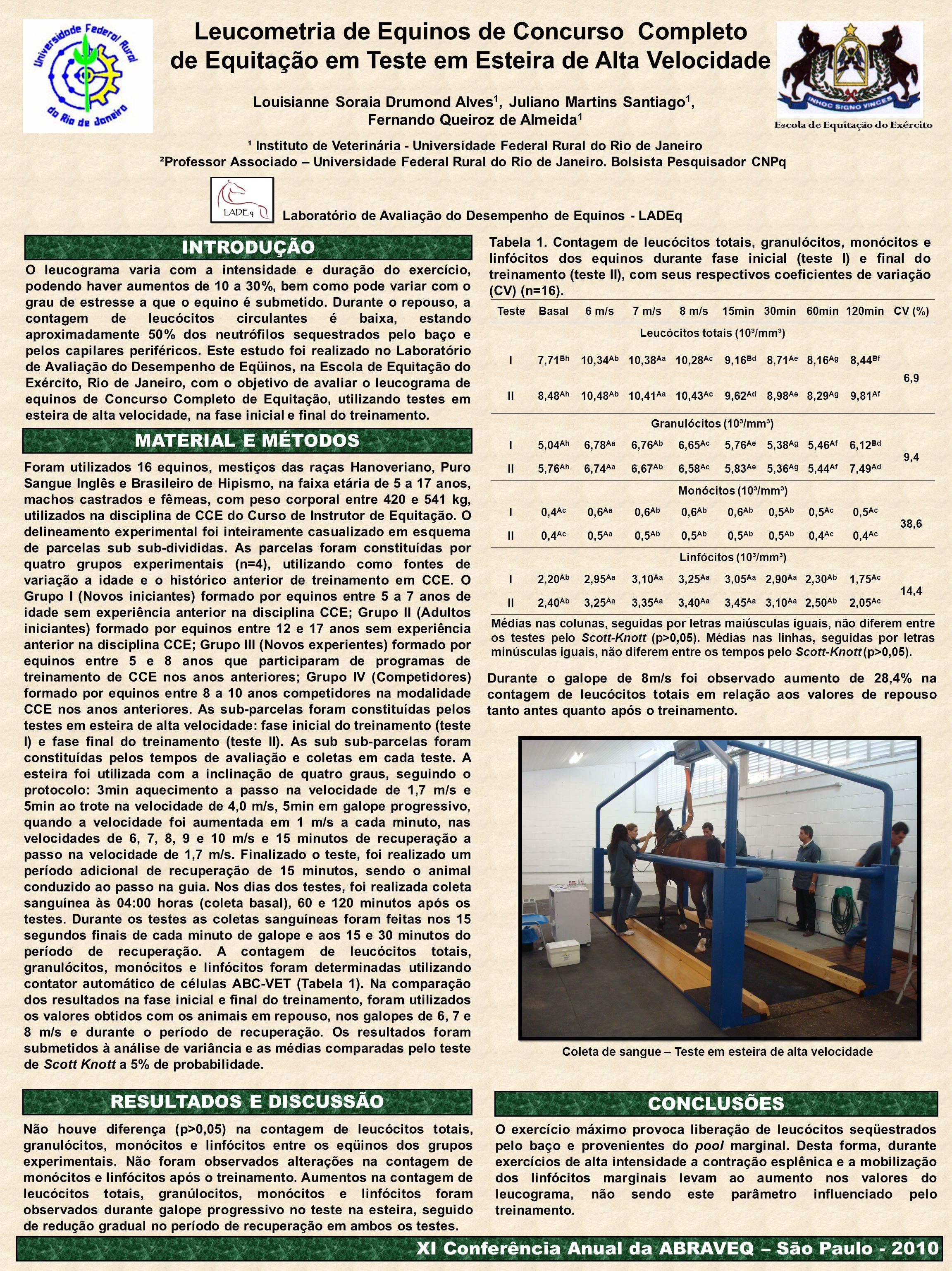 Leucometria de Equinos de Concurso Completo