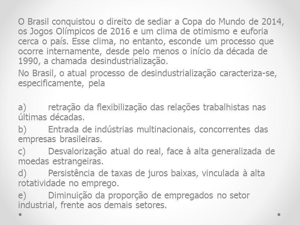 O Brasil conquistou o direito de sediar a Copa do Mundo de 2014, os Jogos Olímpicos de 2016 e um clima de otimismo e euforia cerca o país.