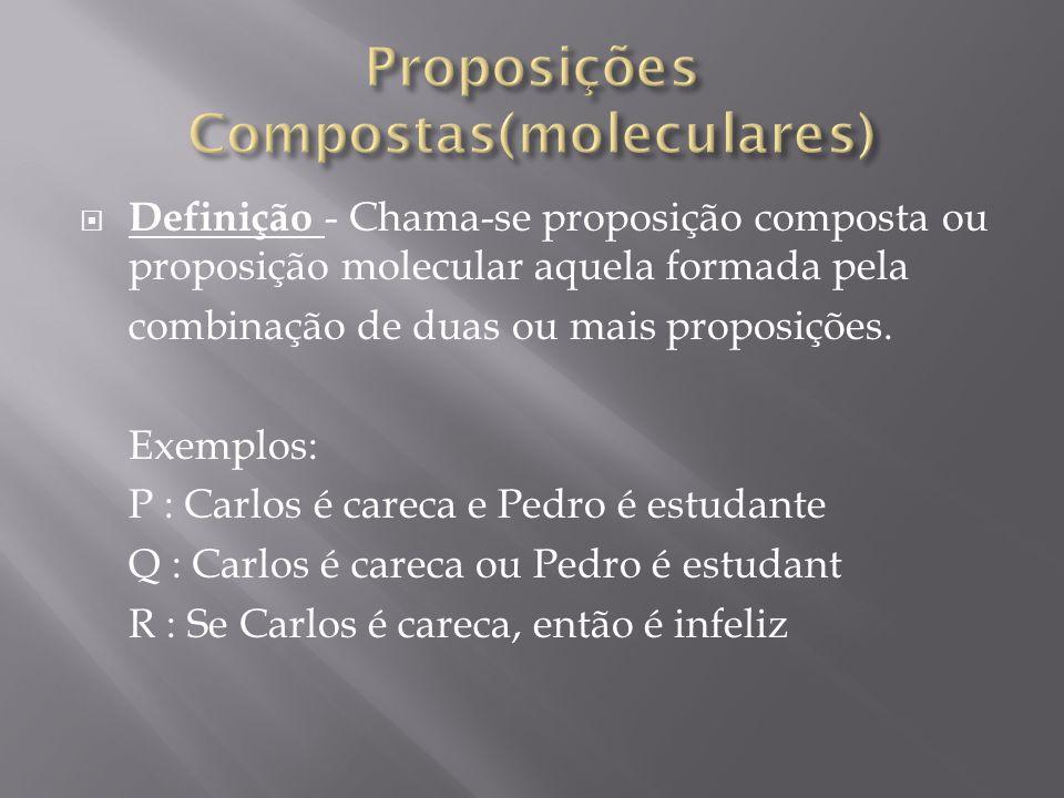 Proposições Compostas(moleculares)