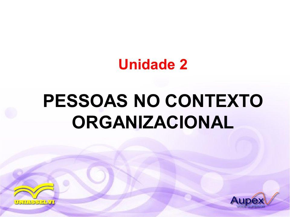 Unidade 2 PESSOAS NO CONTEXTO ORGANIZACIONAL