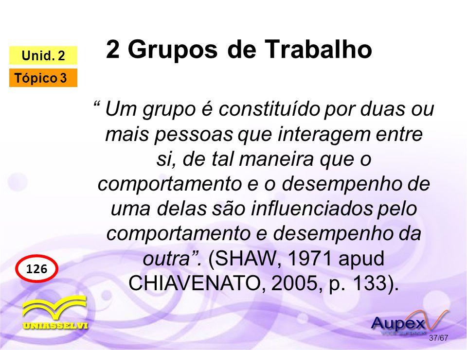 2 Grupos de Trabalho Unid. 2. Tópico 3.