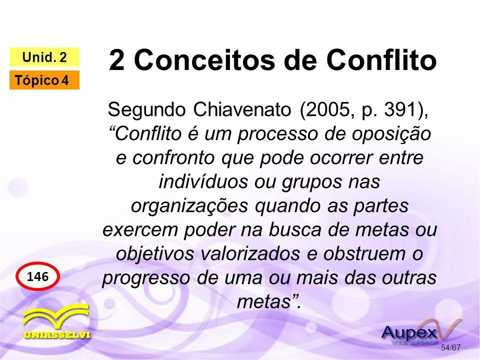 2 Conceitos de Conflito Unid. 2. Tópico 4.