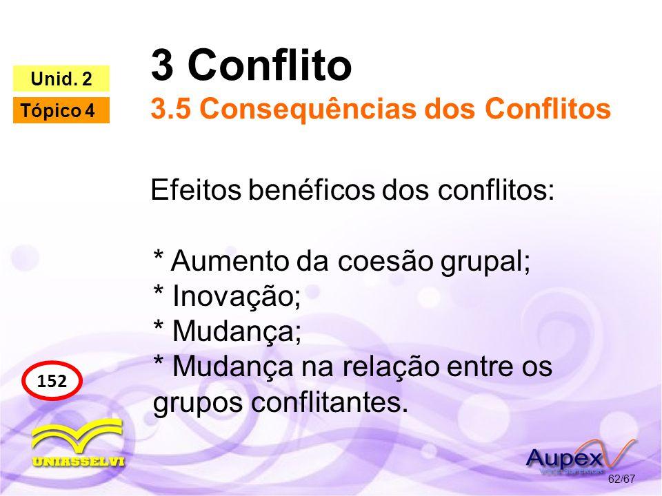 3 Conflito 3.5 Consequências dos Conflitos