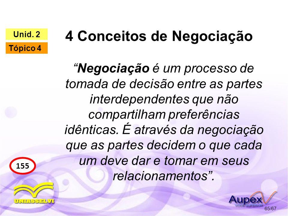 4 Conceitos de Negociação