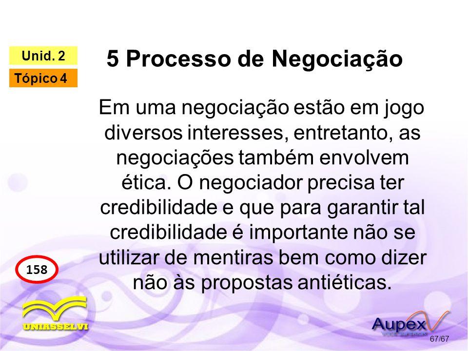 5 Processo de Negociação
